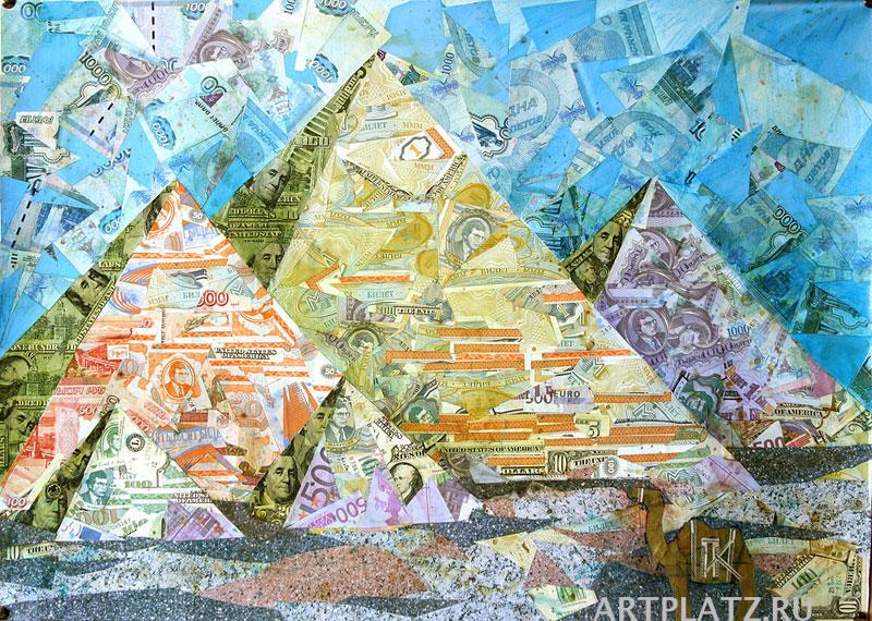Пирамида из денег своими руками 15